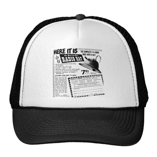 Radio Helmet Trucker Hat