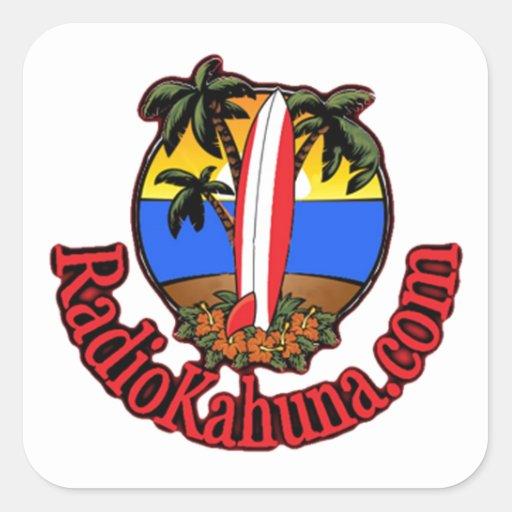 Radio Kahuna Internet Radio Promotional Items Square Sticker