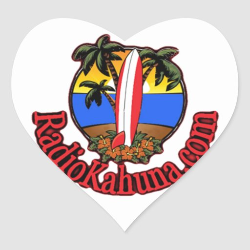 Radio Kahuna Internet Radio Promotional Items Heart Sticker