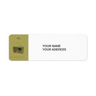 Radio Return Address Label