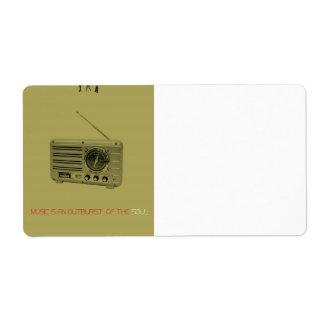 Radio Shipping Label