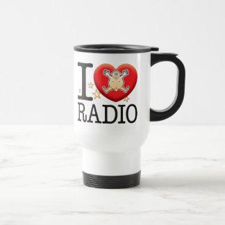 Radio Love Man 15 Oz Stainless Steel Travel Mug