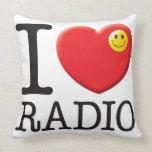 Radio Love Throw Pillow