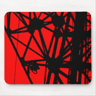 Radio Mast - Red Mouse Pad