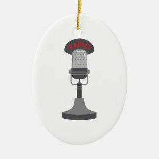 Radio Microphone Ceramic Ornament