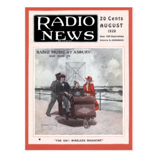 Radio Music at Asbury Postcard