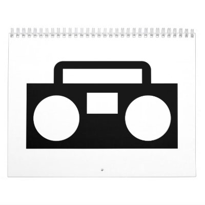Radio Music Wall Calendar