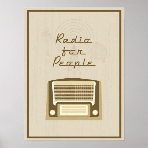 Radio para la gente póster