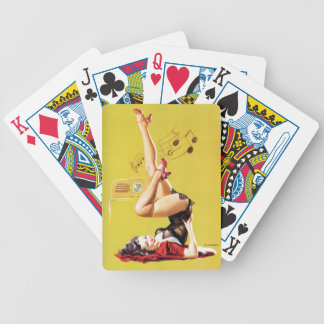 Radio Play Vintage Pin Up Bicycle Playing Cards