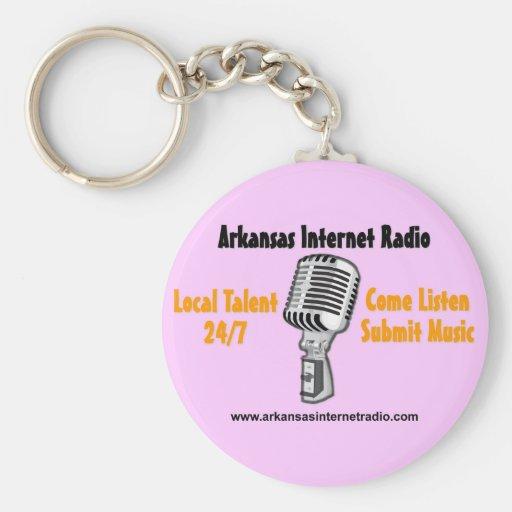 Radio por internet de Arkansas - artículos multi Llavero Redondo Tipo Pin