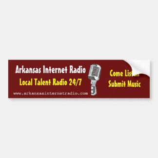 Radio por internet de Arkansas - pegatina para el  Etiqueta De Parachoque