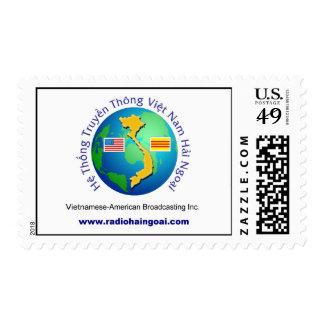 Radio pública vietnamita - modificada para timbre postal