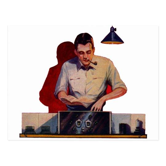 Radio Repair Postcard