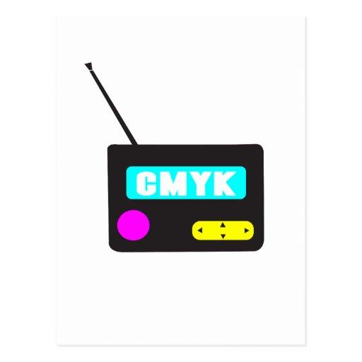 Radio retra portátil de CMYK Postal