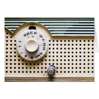 Radio retra tarjeta de felicitación