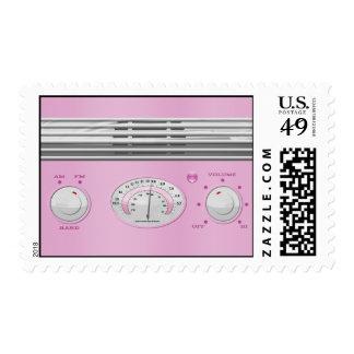 Radio rosada del vintage envio