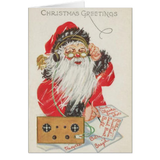 Radio Santa Christmas Card