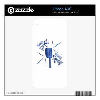 Radio Silence Decals For iPhone 4