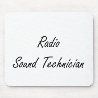 Radio Sound Technician Artistic Job Design Mouse Pad