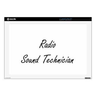 "Radio Sound Technician Artistic Job Design Skin For 17"" Laptop"