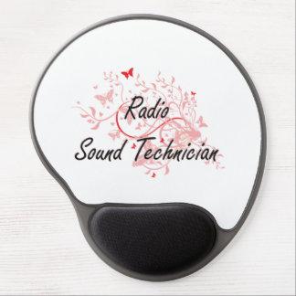 Radio Sound Technician Artistic Job Design with Bu Gel Mouse Pad