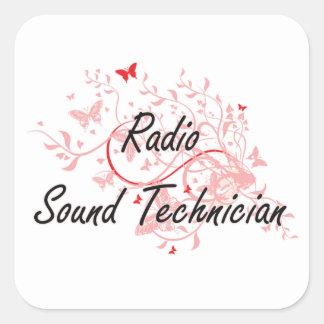 Radio Sound Technician Artistic Job Design with Bu Square Sticker