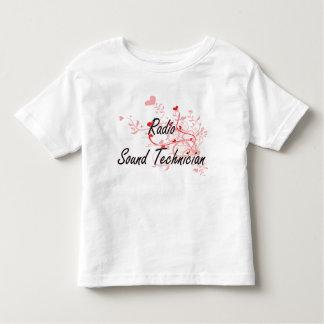 Radio Sound Technician Artistic Job Design with He Shirt