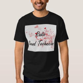 Radio Sound Technician Artistic Job Design with He T-shirts