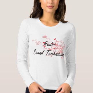 Radio Sound Technician Artistic Job Design with He Tshirt