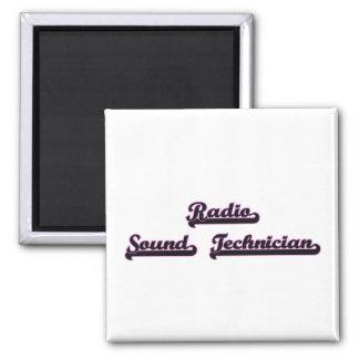 Radio Sound Technician Classic Job Design 2 Inch Square Magnet