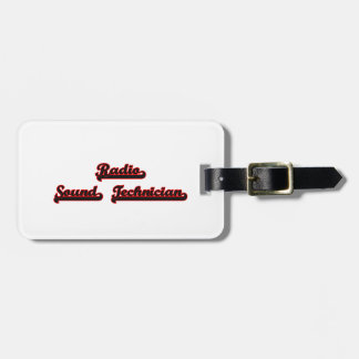Radio Sound Technician Classic Job Design Tags For Bags