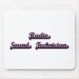 Radio Sound Technician Classic Job Design Mouse Pad