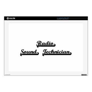 Radio Sound Technician Classic Job Design Decal For Laptop