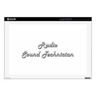 "Radio Sound Technician Classic Job Design 17"" Laptop Decal"