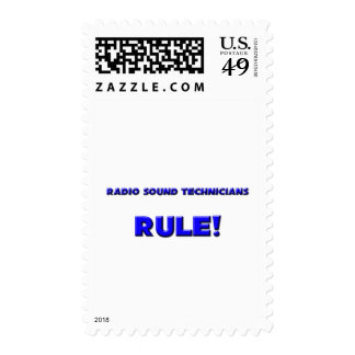 Radio Sound Technicians Rule! Postage Stamp