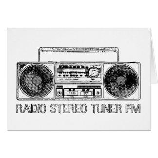 Radio stereo tuner fm greeting cards