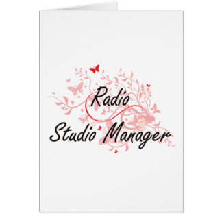 Radio Studio Manager Artistic Job Design with Butt Card