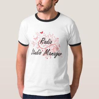 Radio Studio Manager Artistic Job Design with Butt T Shirt