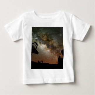 Radio Telescopes and Milky Way Baby T-Shirt