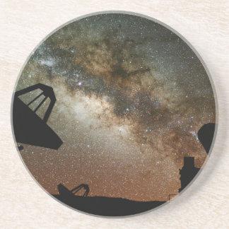 Radio Telescopes and Milky Way Drink Coaster