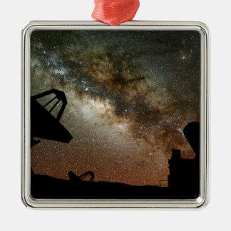 Radio Telescopes and Milky Way Metal Ornament