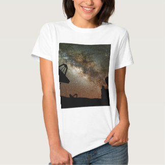 Radio Telescopes and Milky Way T-Shirt