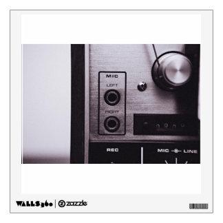 Radio Themed, Black And White Retro Radio Recorder Wall Sticker