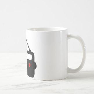 RADIO TRANSISTOR BLACK SYMBOL COFFEE MUG