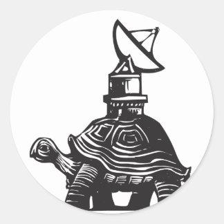 Radio Turtle Classic Round Sticker