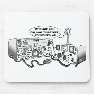 Radio vieja del contador de tiempo alfombrilla de ratón