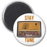 Radio vieja del vintage. Tono de la estancia Imán De Nevera