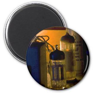 radio vieja interior imán redondo 5 cm