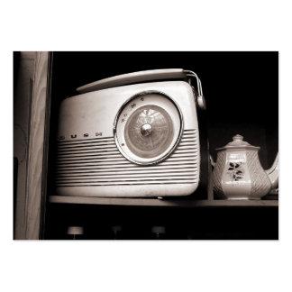 Radio vieja mini foto tarjeta personal