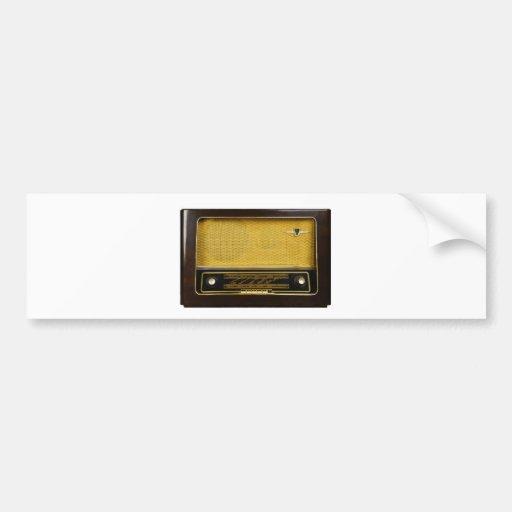 radio vieja pegatina para auto